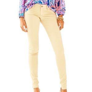 Lilly Pulitzer Worth Skinny Jeans Sand Bar 4 NWT